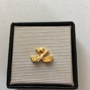 Other - GOLF CLUB NECK TIE TAC TIE PIN GOLD FATHERS DAY